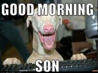 Funny Good Morning Son Meme photos