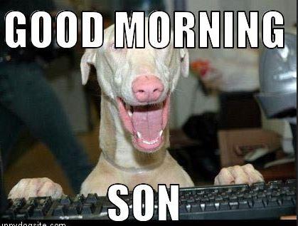 Funny Good Morning Son Meme photos