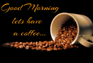 good morning coffee beans cup image