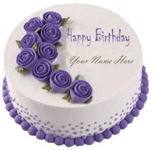Birthday cake image with name