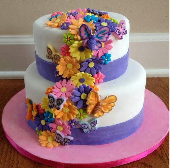 Flower Power Birthday Cake Images