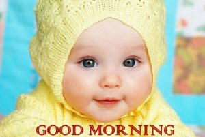 cute baby good morning images pic