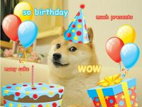 Doge happy birthday meme free download