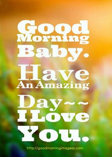 good morning beautiful says