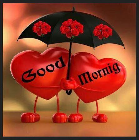 good morning love hart image