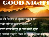 Good night shayeri in hindi image
