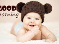 good morning cute baby photo
