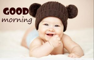 good morning cute baby photo