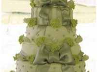 green birthday cake image