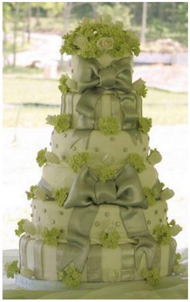green birthday cake image