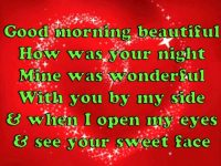 good morning beautiful lyrics image