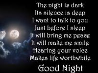 Good night poem images