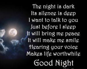 Good night poem images