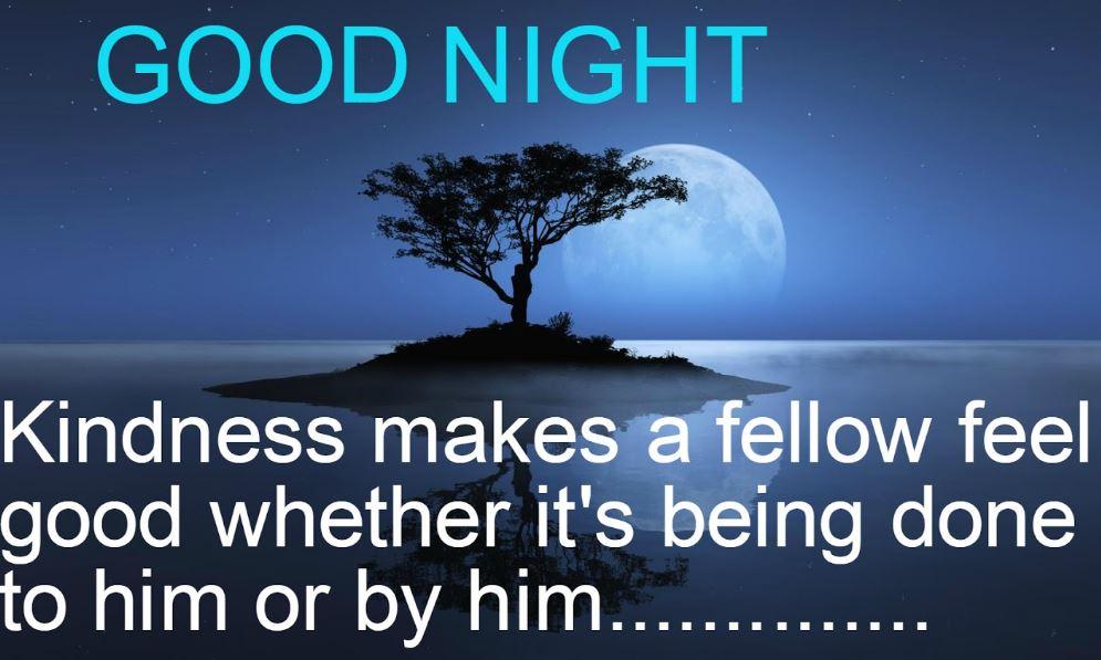 Good night shayari in english image