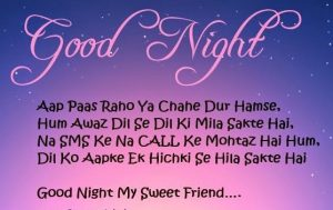 Good night shayari in urdu