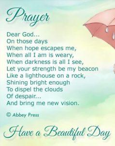Good morning inspirational poem