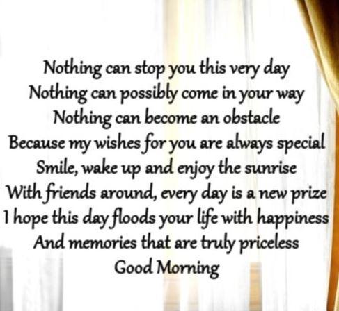 Good morning poems