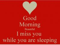 Good morning beautiful miss you image