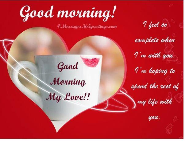 Hart touching good morning beautiful image