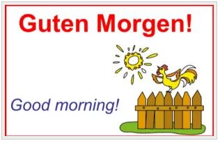 How do you say Good Morning in German