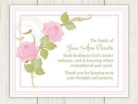 Funeral card messages examples