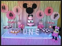 1st Minnie Mouse Birthday Theme Ideas, Cake, Cupcakes, Tableware, Dress Collection