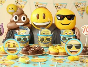 Emojis Birthday Theme Ideas Props, Banners Collection